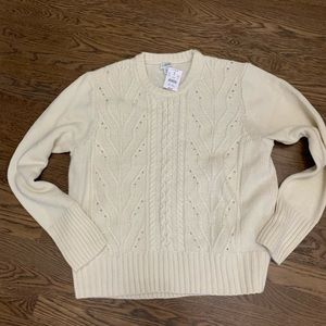 NWT J. Crew Factory cream sweater